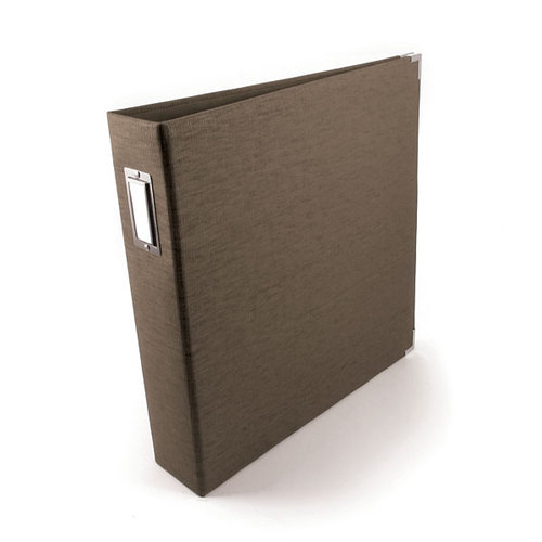 We R Memory Keepers - Linen - 12x12 - Three Ring Albums - Hazelnut