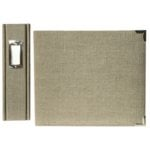 We R Memory Keepers Linen 8 X 8 Postbound Albums - Silverstone