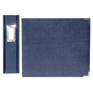 We R Memory Keepers Linen 8 X 8 Postbound Albums - Wedgewood