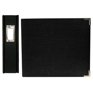 We R Memory Keepers Linen 8 X 8 Postbound Albums - Onyx