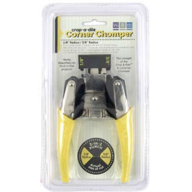 We R Memory Keepers - Crop-A-Dile - 2 in 1 Corner Punch Chomper Tool - Corner Rounder