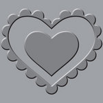 We R Memory Keepers - Crop-A-Dile III Main Squeeze - Embossing Plates - Heart
