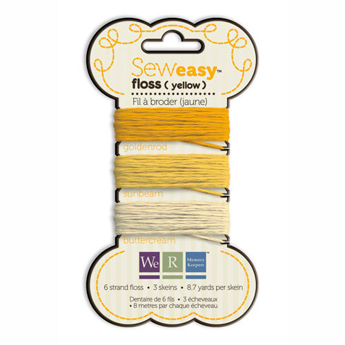 We R Memory Keepers - Sew Easy - Floss - Yellow