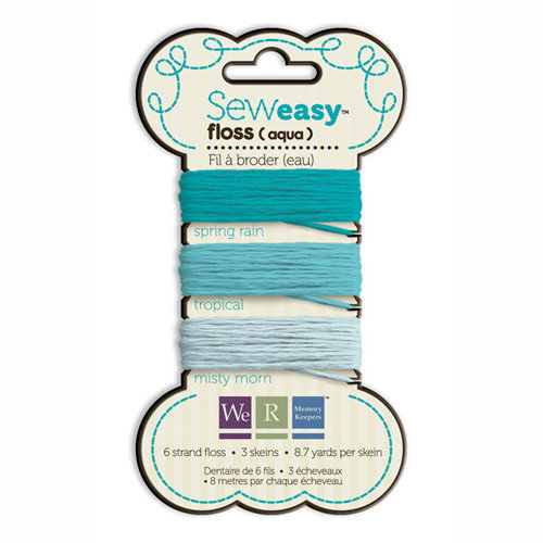 We R Memory Keepers - Sew Easy - Floss - Aqua