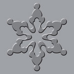 We R Memory Keepers - Crop-A-Dile III Main Squeeze - Embossing Plates - Snowflake