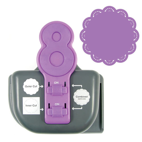 We R Memory Keepers - Lucky 8 Punch - Border and Corner Punch - Tatted Doily