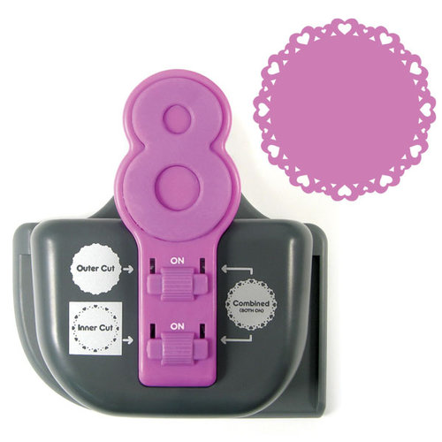 We R Memory Keepers - Lucky 8 Punch - Border and Corner Punch - Eternal Heart