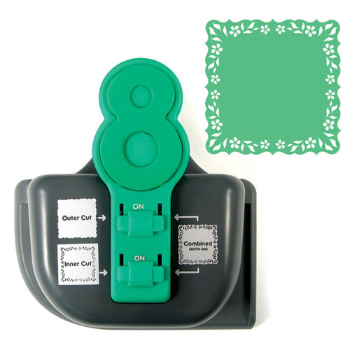 We R Memory Keepers - Lucky 8 Punch - Border and Corner Punch - Vine Bracket