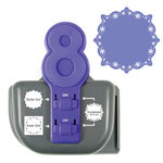 We R Memory Keepers - Lucky 8 Punch - Border and Corner Punch - Snow Globe