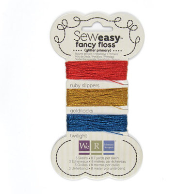 We R Memory Keepers - Sew Easy - Fancy Floss - Glitter - Primary