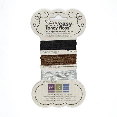 We R Memory Keepers - Sew Easy - Fancy Floss - Glitter - Neutrals