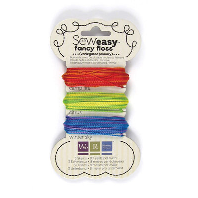 We R Memory Keepers - Sew Easy - Fancy Floss - Variegated - Primary