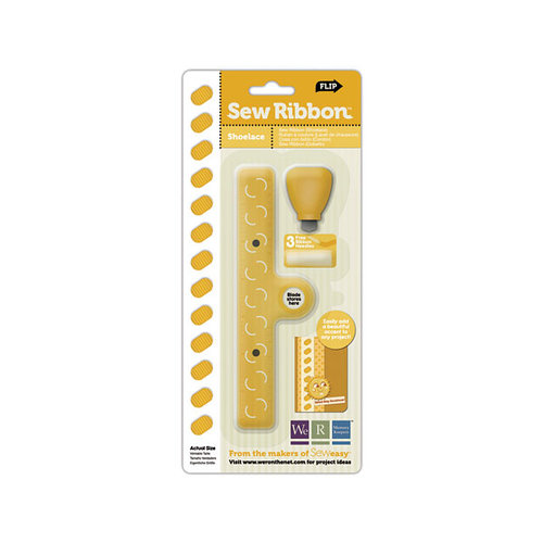 We R Memory Keepers - Sew Ribbon - Tool and Stencil - Shoelace