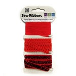 We R Memory Keepers - Sew Ribbon - Ribbon Set - Crimson