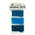 We R Memory Keepers - Sew Ribbon - Ribbon Set - Sky