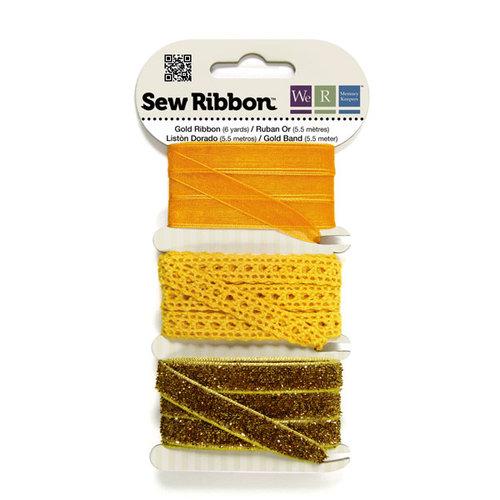 We R Memory Keepers - Sew Ribbon - Ribbon Set - Gold