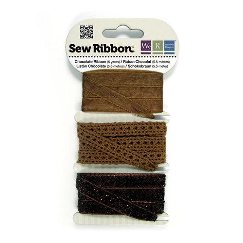 We R Memory Keepers - Sew Ribbon - Ribbon Set - Chocolate