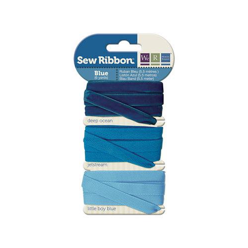We R Memory Keepers - Sew Ribbon - Ribbon Set - Blue