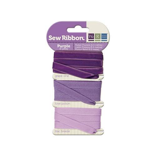 We R Memory Keepers - Sew Ribbon - Ribbon Set - Purple