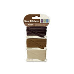 We R Memory Keepers - Sew Ribbon - Ribbon Set - Brown