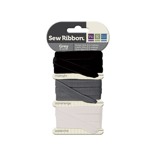 We R Memory Keepers - Sew Ribbon - Ribbon Set - Grey