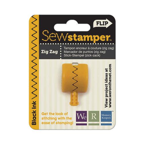 We R Memory Keepers - Sew Stamper - Stamper Attachment Head - Zig Zag Stitch
