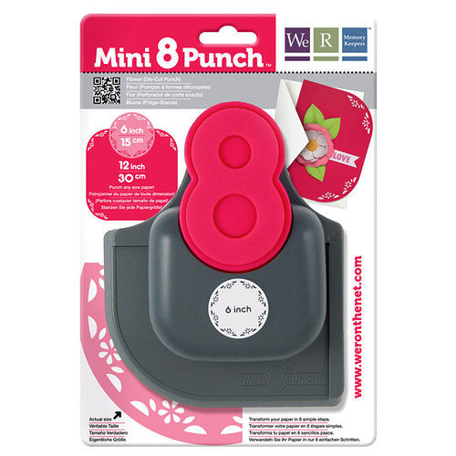 We R Memory Keepers - Mini 8 Punch - Border and Corner Punch - Flower