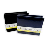 We R Memory Keepers - Classic Leather - 8 x 8 - Post Bound Albums - Set of Two - Black and Navy