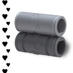 Xyron - Creatopia Patternz - 3 Inch Border Embossing Pattern - Hearts