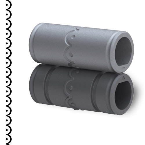 Xyron - Creatopia Patternz - 3 Inch Border Embossing Pattern - Scallop