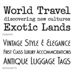 Wishblade - Font Set - World Traveler F10, CLEARANCE