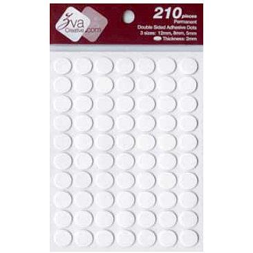 Zva Creative - Adhesive Foam Dots - Permanent - White - 2mm Thickness