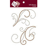 Zva Creative - Self-Adhesive Crystals - Serene Splendor - Champagne and Chocolate, CLEARANCE