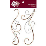 Zva Creative - Self-Adhesive Crystals - Serenity Swirls - Champagne and Chocolate, CLEARANCE