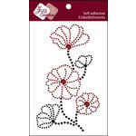 Zva Creative - Self Adhesive Crystals - Blooming - Red and Jet