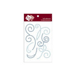 Zva Creative - Self-Adhesive Crystals and Pearls - Imagine -  Soft Blue