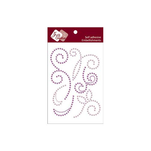 Zva Creative - Self-Adhesive Crystals and Pearls - Imagine -  Lavender