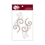Zva Creative - Self-Adhesive Crystals - Symmetrical Flourishes 1 - Champagne and Chocolate