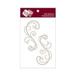 Zva Creative - Self-Adhesive Crystals - Symmetrical Flourishes 3 - Champagne