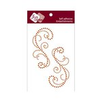Zva Creative - Self-Adhesive Crystals - Symmetrical Flourishes 3 - Orange