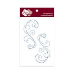 Zva Creative - Self-Adhesive Crystals - Symmetrical Flourishes 3 - Ice Blue