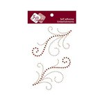 Zva Creative - Self-Adhesive Crystals - Symmetrical Flourishes 4 - Champagne and Chocolate
