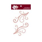 Zva Creative - Self-Adhesive Crystals - Symmetrical Flourishes 4 - Red