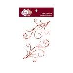 Zva Creative - Self-Adhesive Crystals - Symmetrical Flourishes 4 - Red