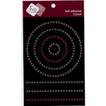 Zva Creative - Self-Adhesive Crystals - Circles and Lines - Pink Clear and Rose, BRAND NEW