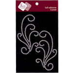 Zva Creative - Self-Adhesive Crystals - Spring Sensation Flourish - Clear