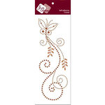 Zva Creative - Self-Adhesive Crystals - Fancy Butterfly - Champagne and Chocolate, CLEARANCE