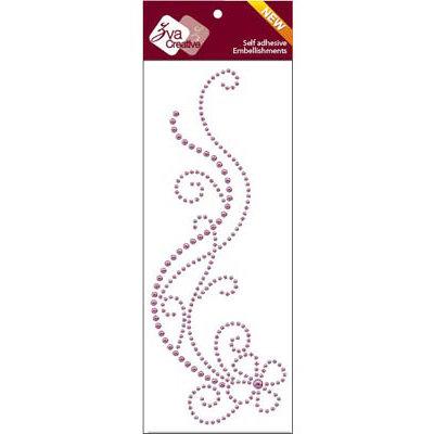 Zva Creative - Self Adhesive Pearls - Delightful - Grape