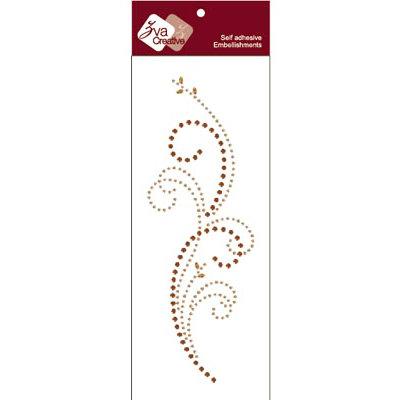 Zva Creative - Self-Adhesive Crystals - Triumph - Champagne and Chocolate