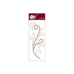 Zva Creative - Self-Adhesive Crystals - Flourishing - Champagne and Chocolate